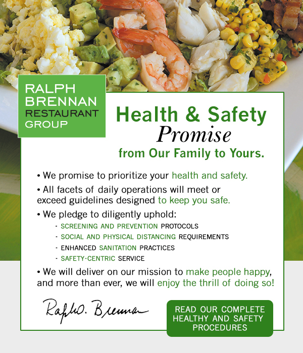 Health and Safety Promise.  Click for complete update.