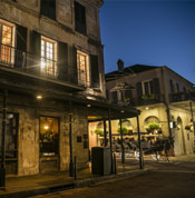 Exterior at night of Napoleon House