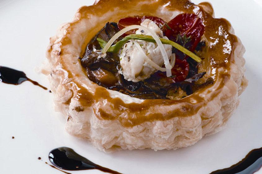 Crabmeat & Wild Mushroom Tart