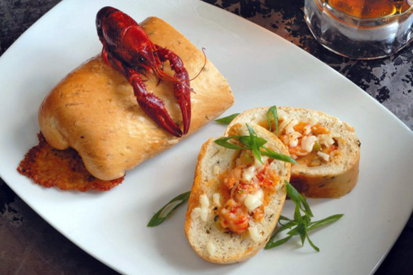 Crawfish Bread at Red Fish Grill