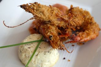 Cornflake Crusted Shrimp