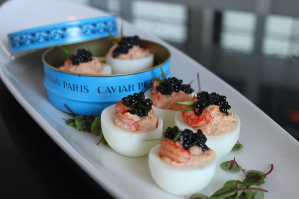 Crawfish Remoulade Devilled Eggs