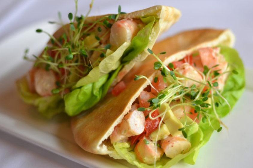 Shrimp Salad Pita
